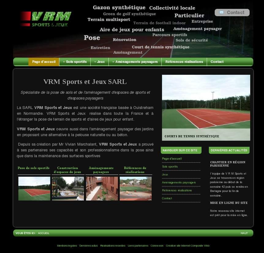Cr ation de site internet optimis s h bergement r f rencement et positionnement de site web - Gazon sport et jeux ...